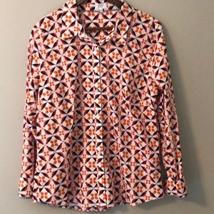 Crown & Ivy button down women's shirt size XL